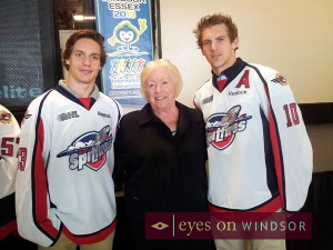Founder of Windsor Spitfires' Grandaughter Shirly McLellan