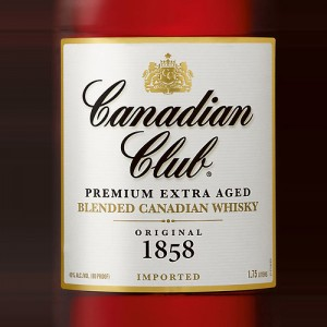 Canadian Club Whiskey from Hiram Walker Distillery