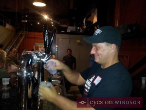 Walkerville Brewery Co-owner Chris Ryan Pouring Beer