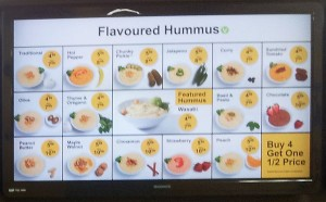 Hummazing Hummus Menu