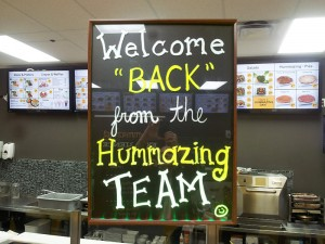 Hummazing Reopens Welcome Back with Digital Menu in Background