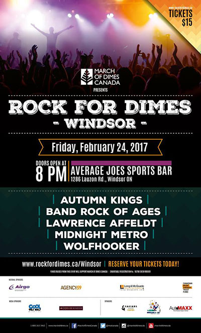 Rock For Dimes Windsor Poster