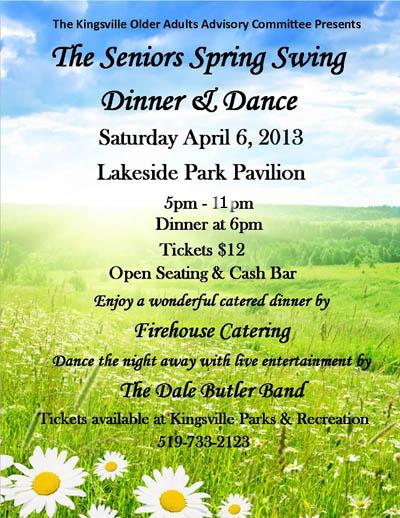 Seniors Spring Swing Dinner Amp Dance In Kingsville