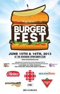 Burger Fest Windsor 2013 poster
