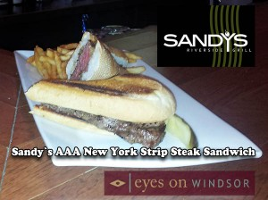 Sandy's Riverside Grill AAA New York Strip Sandwich
