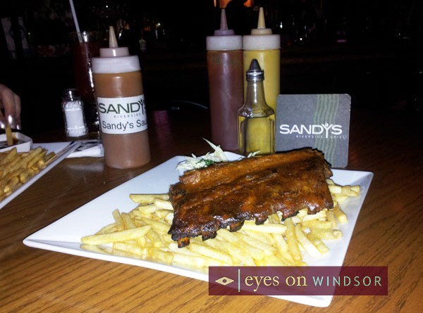 Restaurant Review: Sandy's Riverside Grill | Louisiana Shrimp, BBQ Back Ribs, & Sirloin Burger