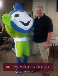 Windsor Essex 2013 International Children's Games Mascot Sport with Eric Bonnici