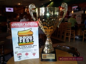 Burger Fest 2013 Windsor Ontario Trophy