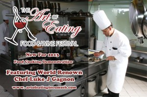 Chef Luke Gagnon Cooking Demo at Tecumseh Art of Eating Food & Wine Festival 2013
