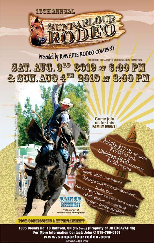 Sunparlour Rodeo Poster