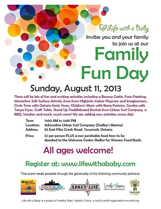Life With A Baby Family Fun Day Urban Surf Company