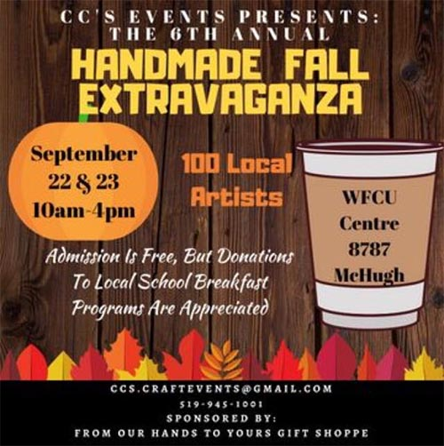 C.C. Events Annual Fall Extravaganza Poster