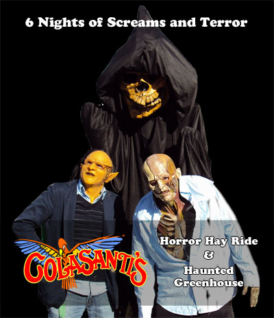 Colasanti's Horror Hayride and Haunted Greenhouse for Halloween 2014