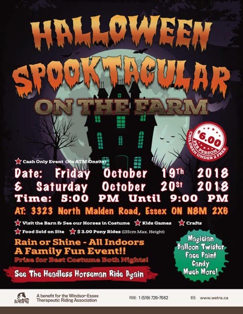 WETRA Halloween Spooktacular On The Farm Poster