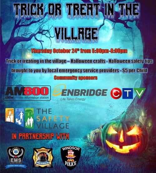 Trick or Treat in The Village at Windsor's Safety Village