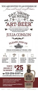 Art of Beer 2013 at Walkerville Brewery Featuring Artist Julia Conlon