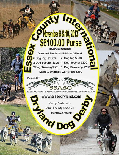 The Inaugural Essex County International Dryland Dog Derby takes place