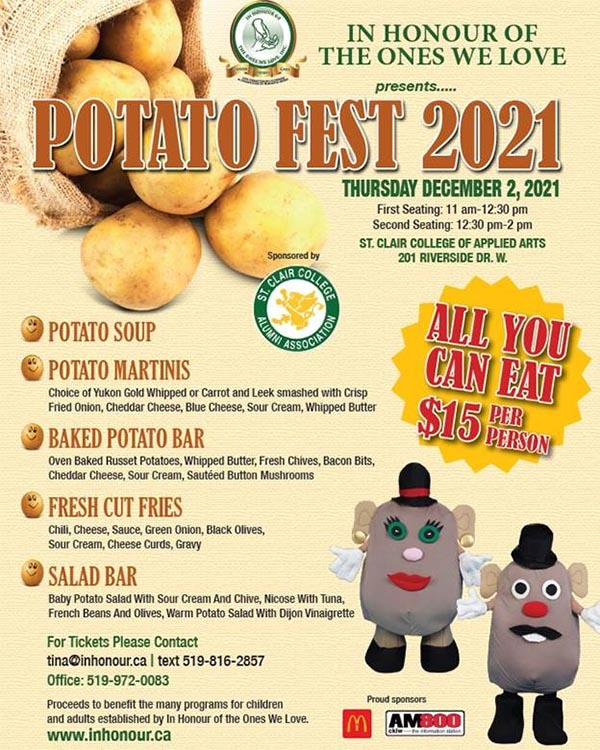 In Honour of The Ones We Love Annual Potato Fest Poster