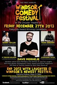 Windsor Comedy Festival 2013 Poster