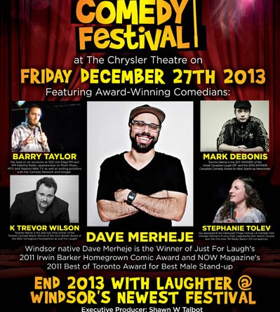 Windsor Comedy Festival Brings Canada's Edgiest Award Winning Comedian to Town