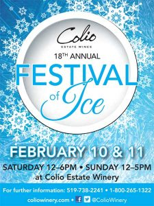 Colio Estate Wines Annual Festival of Ice Poster
