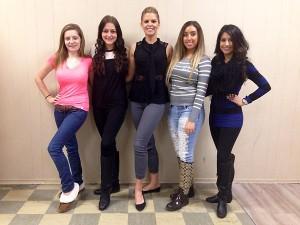 Miss Canada 2014 & Miss Teen Canada Finalists From Windsor Essex (Nicole Roberts, Stephanie Kirst, Jaclyn Miles, Bianca Corio, Priya Madaan).