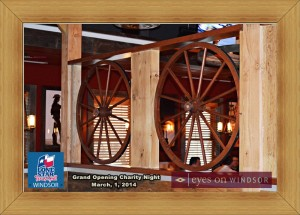 Wagon Wheel Fixtures inside Lone Star Texas Grill in Windsor