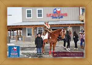 Michelle Stein (Firehorse Leadership Organization) and Sarah Parks Horsemanship at Lone Star Texas Grill Windsor Grand Opening.