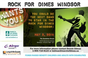 3rd Annual Rock For Dimes Windsor 2014