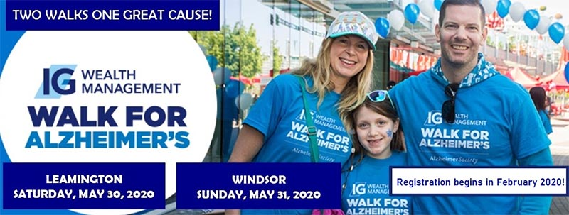 Walk For Alzheimer's Windsor Essex Poster Leamington and Windsor