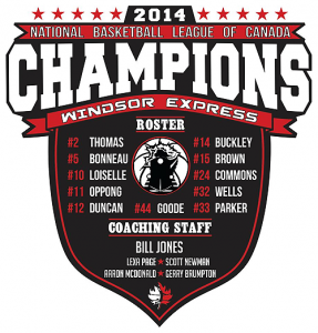 Windsor Express 2014 NBL of Canada Champions