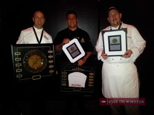 Battle of the Hors Doeuvres 2013 Winners Will Defend Their Titles in the 2014 Battle of The Hors D'oeuvres at Caesars Windsor. Pictured here are Executive Chef Shawn McKerness (The City Grill),  Jeff White (Just Jeff's), and  Marco Malizia (Armando's Pizza).