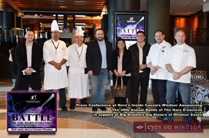 Battle of The Hor's Doeuvres 2014 Competing Chefs at Caesars Windsor