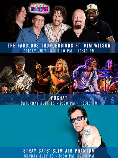 Bluesfest Windsor 2017 Announces The Fabulous Thunderbirds Featuring Kim Wilson, Foghat, and Stray Cat's Slim Jim Phantom,