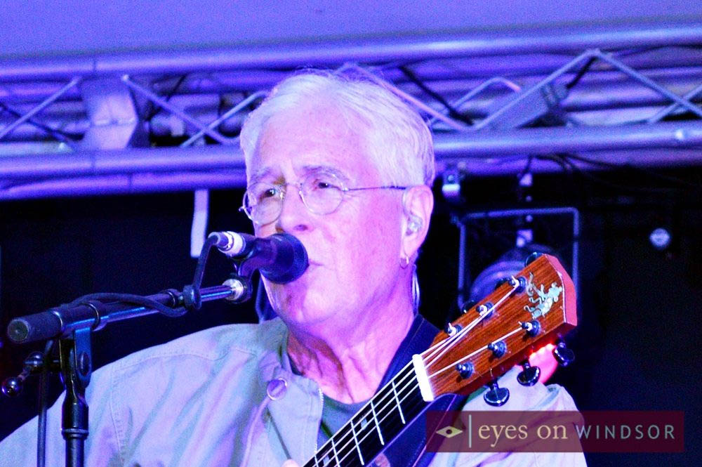 Bruce Cockburn performing during the Inaugural Kingsville Folk Music Festival Held in August of 2014.
