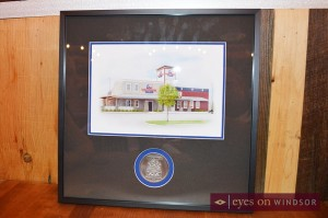 Lone Star Texas Grill drawing with City of Windsor seal.