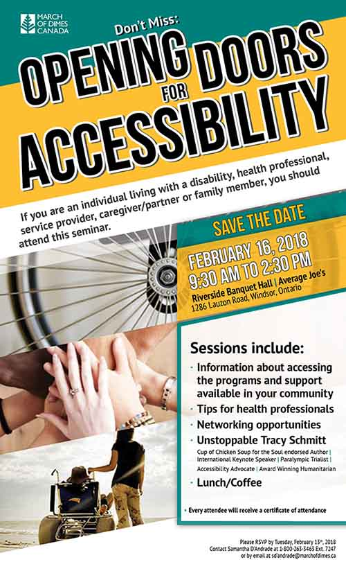 Opening Doors For Accessibility Seminar in Windsor Poster
