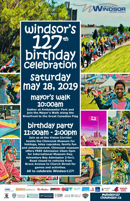 City of Windsor Birthday Celebration Poster