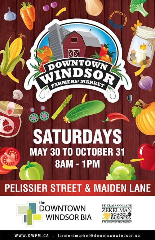 Downtown Windsor Farmers' Market Poster