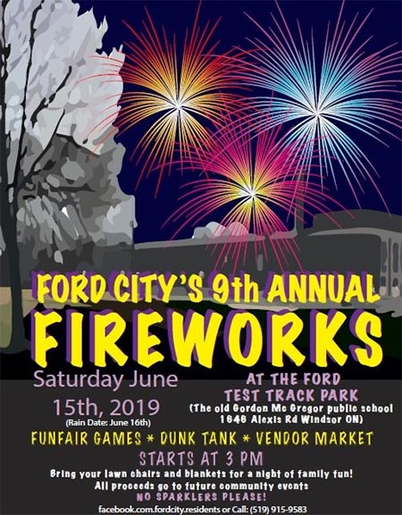 Ford City Fireworks Poster