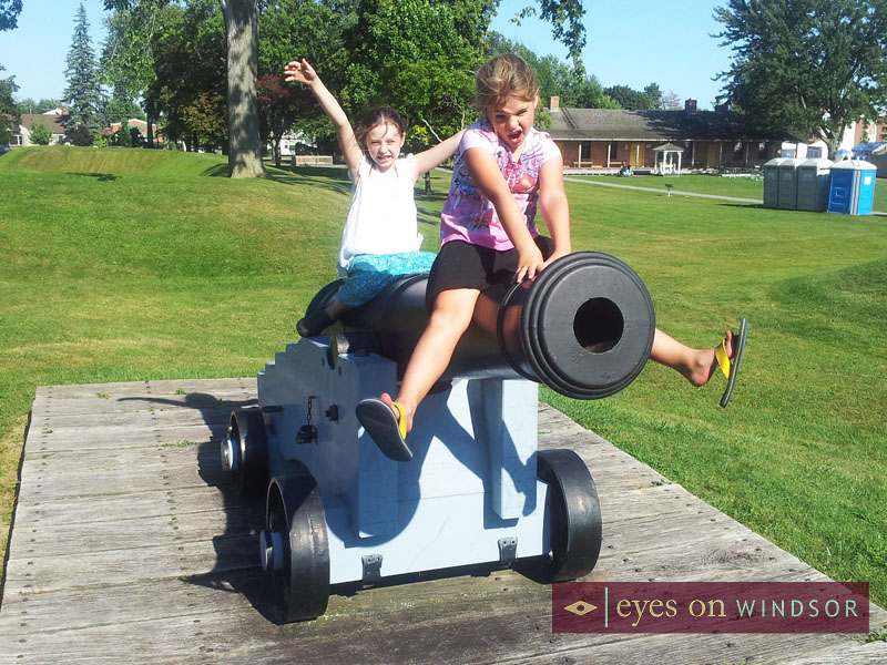 Cannon at Fort Malden