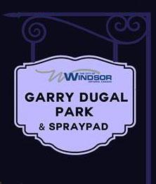 Garry Dougal Park and Splash Pad sign