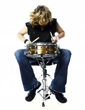 Jeff Burrows on the Drums