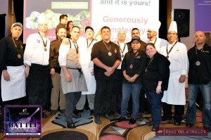 Chefs having fun at Caesars Windsor during Battle of the Hors D'oeuvres 2014
