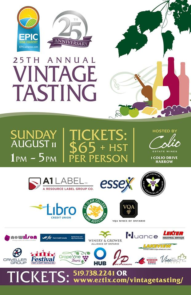 EPIC Wineries Vintage Tasting Poster