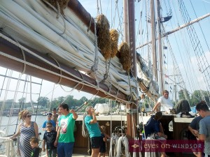 Tall Ship Peacemaker Deck Tour