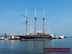 Tall Ship Peacemaker docked