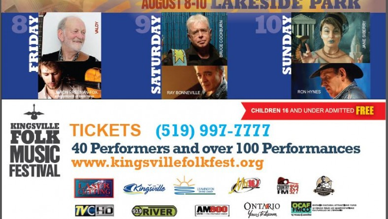Kingsville Folk Music Festival Set To Make History with Legendary Performances