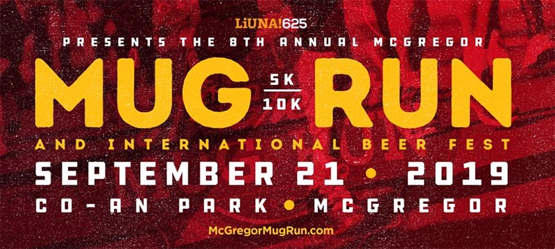 McGregor Mug Run & International Beer Fest Poster