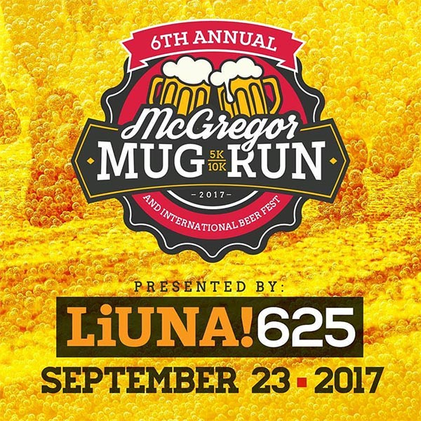 McGregor Mug Run and International Beer Fest Logo